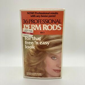 Perm Curl Rods Kit # 2 Professional 36 Salon Perm Rods Free 'n Easy