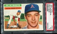 1956 Topps Baseball #156 WES WESTRUM New York Giants Gray Back PSA 5 EX