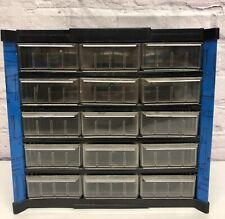Vintage 15 Drawer Metal Small Parts Storage Organizer Cabinet Bin