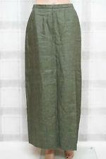 Leinen! SCHNEIDERS ☘ Damen Rock Gr. DE 38 Olivgrün Skirt Jupe Gonna