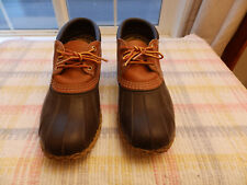 LL Bean Mens Duck Boots -  Brown Rubber Rain Boots - size 8W - Made in the USA