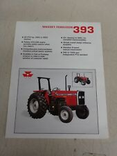 Massey Ferguson 390T and 393 Tractor Brochures 2 & 4Wd 2 double sided sheets