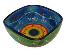 Square Deep Serving Salad Bowl 18 x 7.5 cm Spanish Handmade Ceramic Pottery