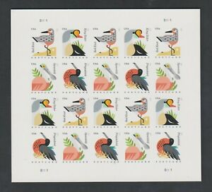 Discounted Small Wrinkle US Imperf Coastal Birds Postcard Rate Pane of 20 4994b