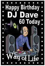 NORTHERN SOUL (DJ) - FUNNY HAPPY BIRTHDAY PERSONALISED CARD (ANY NAME/AGE)  NEW