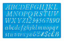 20mm italic font upper lower case alphabet letters & numbers stencil template