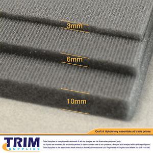 Foam Padding Scrim 3mm 6mm 10mm Car Seat Van Trimming Upholstery 1.5m Roll Width