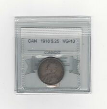 **1918**, Coin Mart Graded Canadian, 25 Cent, **VG-10**