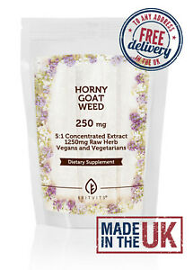 Horny Goat Tablets 1250mg Weed Extract Barrenwort ✔Made in UK