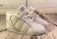 New ADIDAS ORIGINALS Gym Baby Crib White Pale Pink SHOES 108030 SIZE 2K