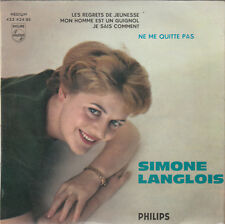 "7"" FRENCH EP 45 TOURS SIMONE LANGLOIS ""Ne Me Quitte Pas +3"" 1959 BREL RAUBER"