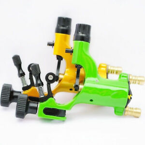 2 pcs Mixed Green Yellow Dragonfly Rotary Tattoo Machine Gun Liner Shader