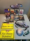 Vintage Star Trek Lot-VHS Tapes-Cardboard CutOut-Ornament-Collectable-Log Book