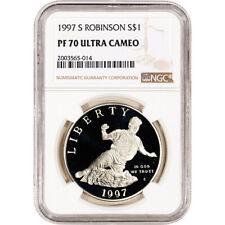 1997-S US Jackie Robinson Commemorative Proof Silver Dollar - NGC PF70 UCAM