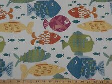 Swavelle/Millcreek Something's Fishy Tropical Jacquard Tide
