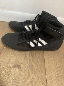 Adidas Boys Wrestling Shoes Size 4.5 Black