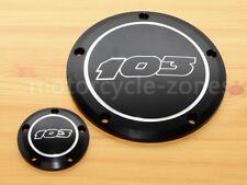 103 Black Engine Derby Cover + Timing Timer For Harley FLHR Road King Dyna 96-13