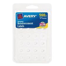 "Avery Permanent Reinforcement Label - 0.25"" Diameter - Polyvinyl - (ave06734)"