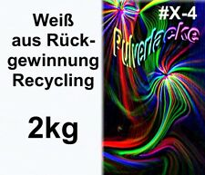 PULVERLACK 2kg Rückgewinnung Beschichtungspulver Pulverbeschichtung weiß