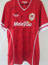 Cardiff City Squad Signed 2014-2015 Home Football Shirt FLT COA /34845