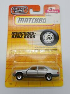 Matchbox 1993 MB38 Mercedes Benz 600s Silver MOC Die Cast Metal Tyco Toys #1738