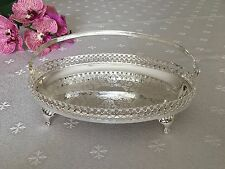 Vintage Silver Plated Small Oval Gallery Tray Bon Bon Dish- Gift -SALE
