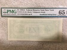 1988-A $1 Blank Back Almost  Pmg 65 Gem Uncirculated
