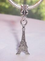 Eiffel Tower Paris France Landmark Travel Dangle Charm for European Bracelets