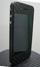 iPhone 4S * Black * 3M Di-Noc Carbon Fiber Vinyl Full Body Skin sticker