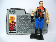"GI Joe 3.75"" Action Figure - (647) 1987 MERCER Renegade   w/ Filecard"