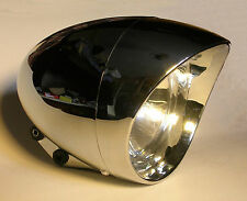 phare moto avant feu pieces chopper bobber lampe light 15cm headlight highway