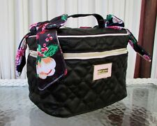 Betsey Johnson Bow Train Case Quilted Cosmetic Travel Bag Floral NWT