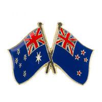 AUSTRALIA & NEW ZEALAND FRIENDSHIP FLAG Enamel Pin Badge Lapel Brooch Gift PN36
