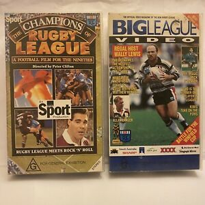 THE CHAMPIONS OF RUGBY LEAGUE - BIG LEAGUE VIDEO : 2 VHS TAPES Free Postage