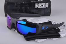 Sunglasses Crankshaft Polarized!!Matte Black/Blue Mercury Iridium Lens