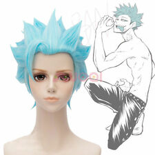 Sins Greed Ban Short Light Blue Cosplay Full Wig