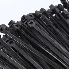 "100pcs 16"" Black Nylon Cable Tie Zip Heavy Duty Plastic Wire 4.8*400mm ñs GT"