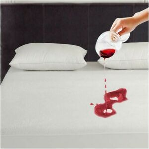 Terry Towel Mattress Protector Fitted Sheet Bed Cover Waterproof