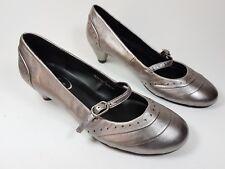 M & S Footglove Pewter mid heel shoes uk 3 eu 35.5
