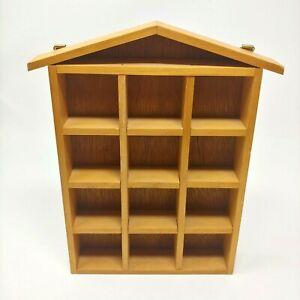 Vintage Thimble Shelf 12 Slots Wall Mount Collectibles Display