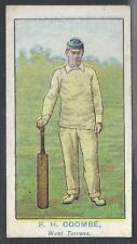 WILLS-AUSTRALIAN CLUB CRICKET BLUE BACK (BROWN FRAME)- COOMBE - WEST TORRENS