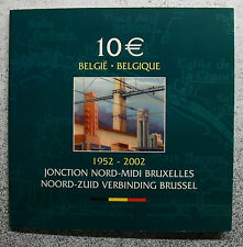 SILVER COIN .925 QP, BELGIUM, 10 EURO, 2002, 50 JAAR NOORD ZUID, MORIN BE9