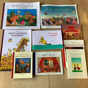 lot 9 livres éditions Ecole des Loisirs de Claude Ponti - divers formats