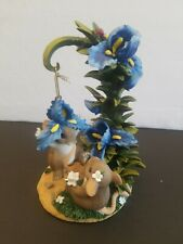 Fitz & Floyd Charming Tails Pretty Parachute Ornament & Stand Repeired