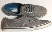 Vans Gray Herringbone Women's Size 8 Men's Size 6.5 Canvas Sneakers