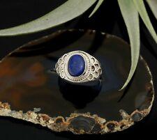 Vtg Sterling Silver Southwestern Blue Lapis Ring sz 7.25