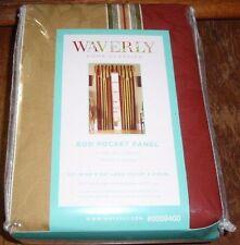 NEW! Waverly Capulet Stripe 84-in Antique Gold Rod Pocket Single Curtain Panel