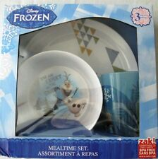 Disney Frozen 3-pc Mealtime Set Olaf New NIB Cup Bowl Plate BPA Free