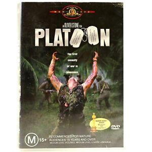 Platoon Willem Dafoe Charlie Sheen Vietnam War Movie DVD R4 Good Condition