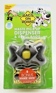 Bags On Board Waste Pick-Up Dispenser & Refill Bags, 30 Bags [Damaged Packaging]
